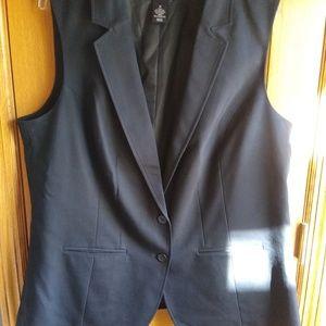 Lane Bryant 20w black vest